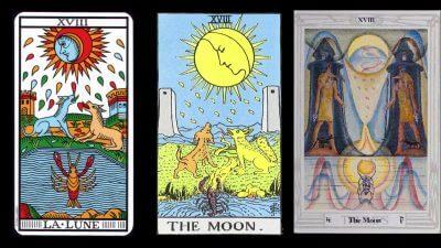 la luna carta tarot arcano